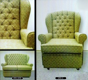 Classic Queen Anne Upholstered Three Piece Suite
