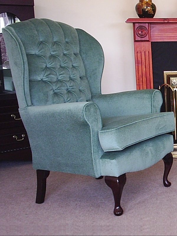 Classic Queen Anne Button Back Chair