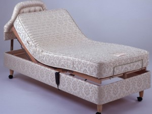 Ivory Electric Bed on Legs