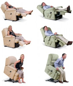 Scott Lift and Rise Recliner Positions