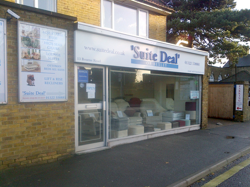 Suite Deal Bexley Showroom for high seat chairs, riser reclinners & adjustable beds