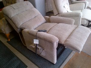 Lamborne riser recliner fully reclined