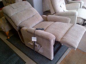 Lamborne riser recliner fully reclined