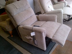 Lamborne riser recliner footrest raised.