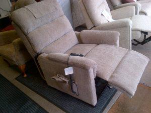 Lamborne riser recliner footrest raised.